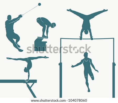 Set of five Olympic disciplines - vector illustration Stock photo ©