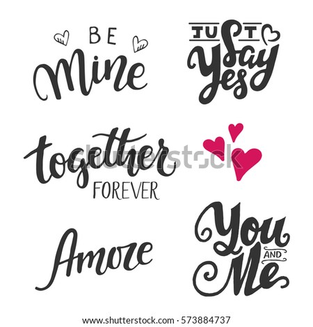 set of five vector hand drawn