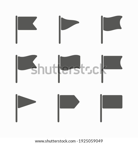 Set of flag icons vector illustration