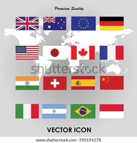 Set of flags. Vector illustration #390194278