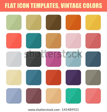 set of flat app icon templates