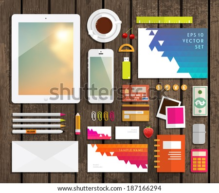 Set Of Flat Design Icons Mobile Phones Tablet Pc