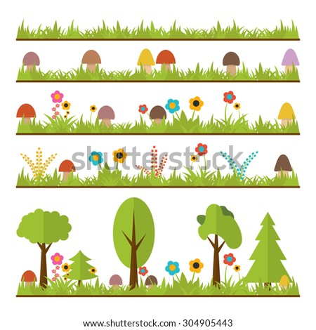 set of flat forest design