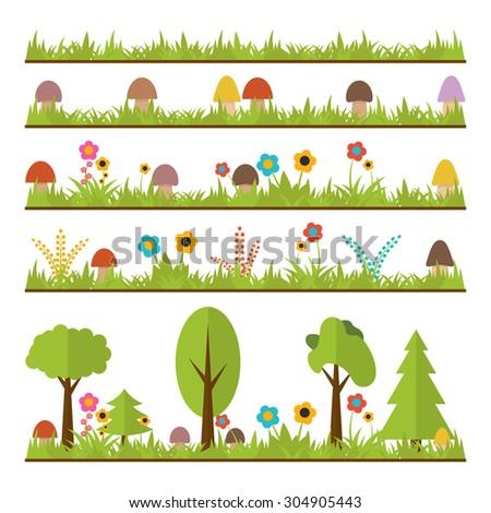 set of flat forest design