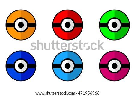 set of flat icon  ball game