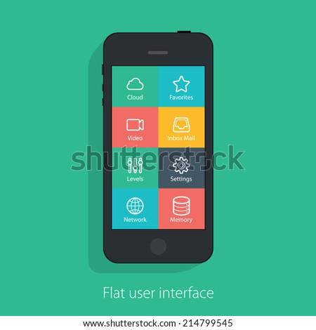 set of flat mobile elements