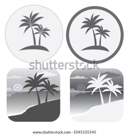 set of flat vector black and