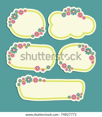 set of floral banners. vector illustration