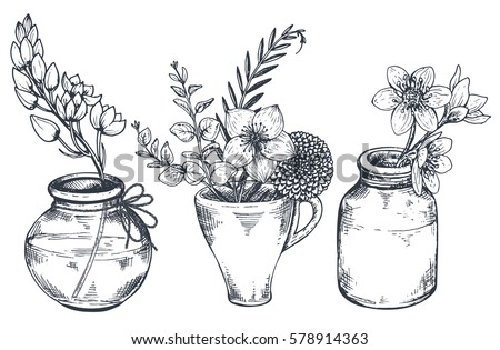 Vases With Flowers Download Free Vector Art Stock Graphics Images