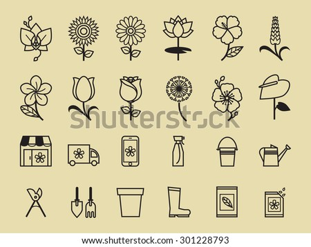 set of flower icon for flower