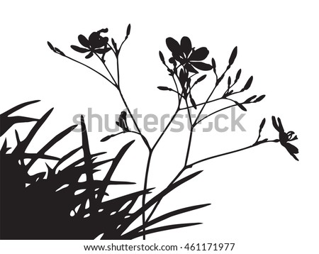 set of flower trees vector