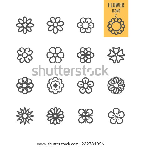 Set of flower. Vector illustration. #232781056
