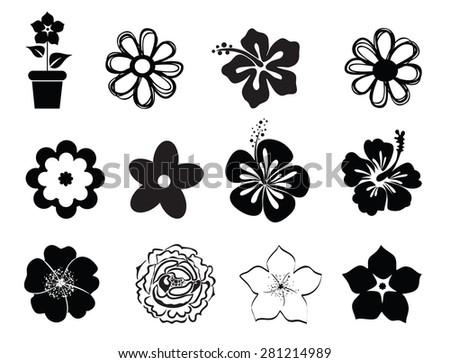Line Art Flower Design : Vector flower icons download free art stock graphics
