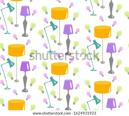 Set of fluorescence lamps of isolated on a white background