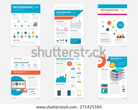 Set of Flyer, Brochure Design Templates. Geometric Triangular Elements, Abstract Modern Backgrounds. Mobile Technologies, Applications and Online Services Infographic Concept.