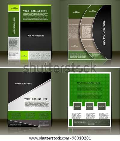 Set of flyer design vector