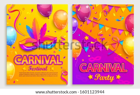 set of flyers for carnival