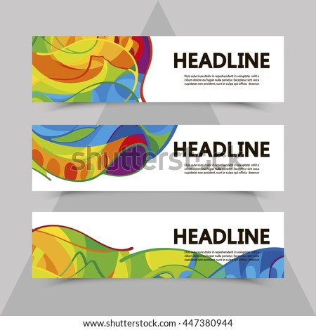 set of flyers with abstract