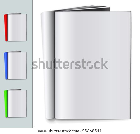 Set of folded blank magazines