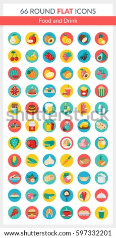 set of food icons it includes