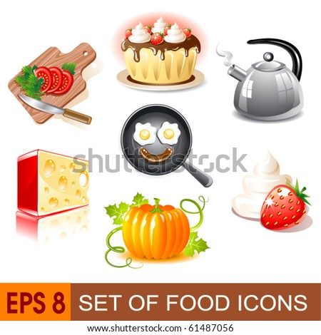 Set of food icons. Vector