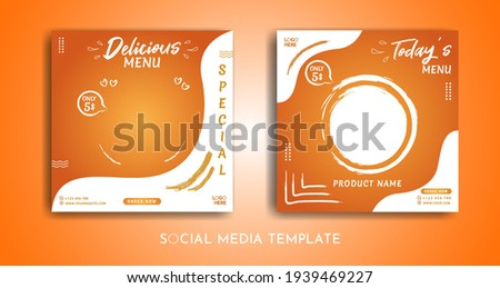 Set of food menu themed square banner templates that you can edit. Perfect for business branding, social media posts, web ads, social media ads, and food menu posters.