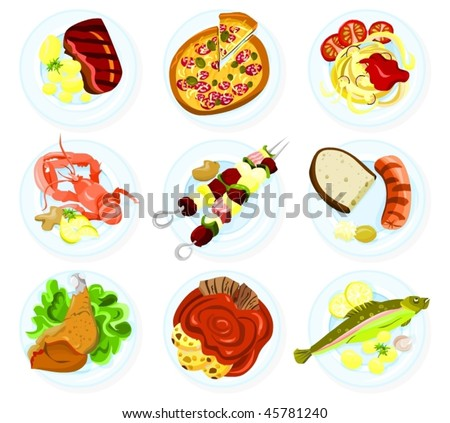 Royalty-free Main dishes set with traditional food… #409001506 Stock ...