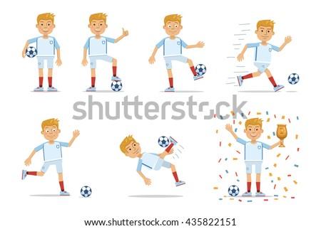 set of football player