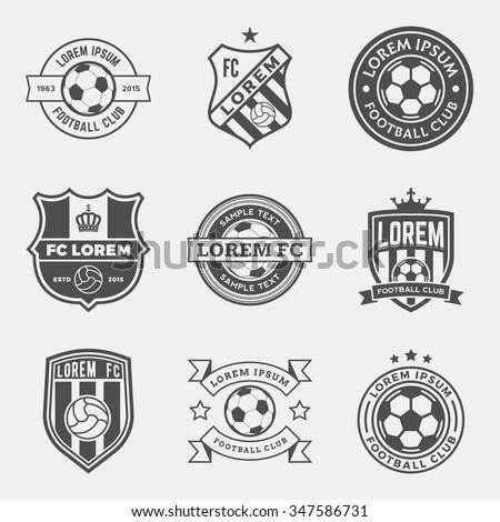 set of football  soccer  crests