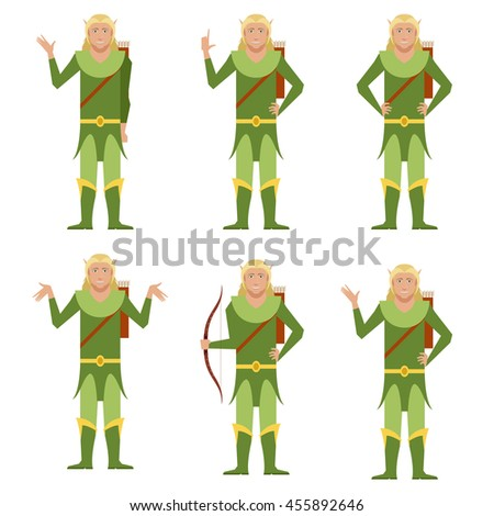 set of forest fantasy elves