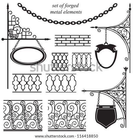 set of forged metal elements