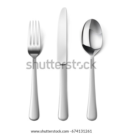 set of fork  knife and spoon...