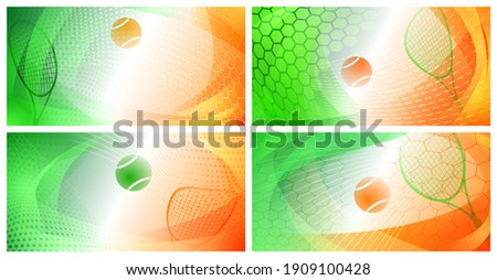 set of four abstract