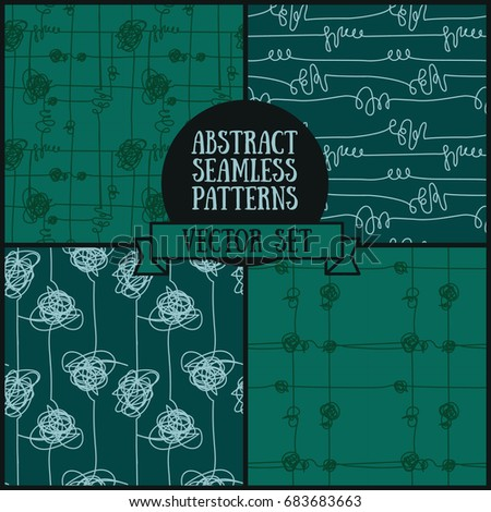 set of four abstract seamless