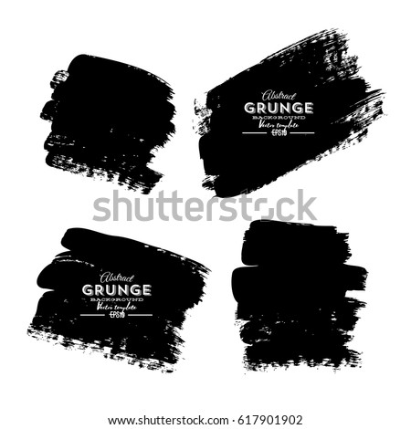 Set of four black grunge banners for your design #617901902