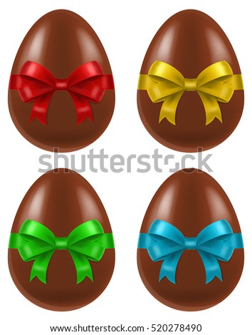 set of four chocolate easter