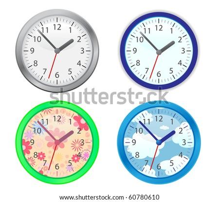 Set of four clocks