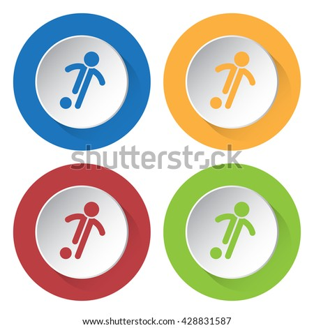 set of four colored icons
