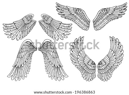 set of four different vector...