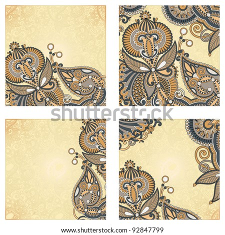 set of four flower background