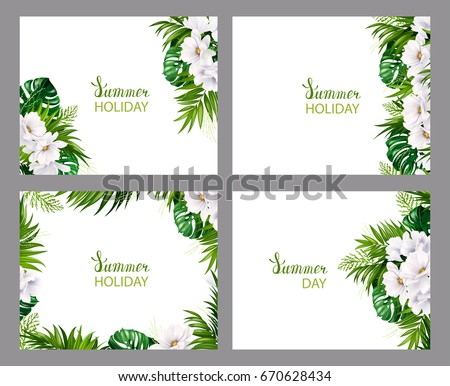 set of four holiday banners