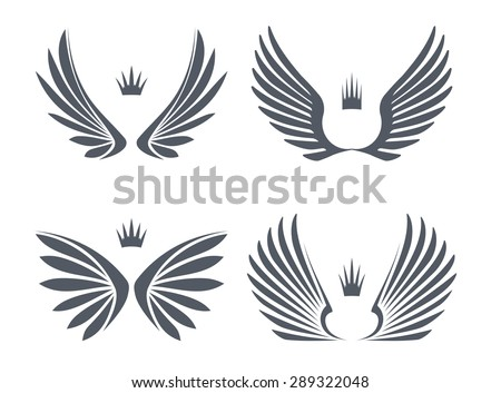 set of four pairs of wings with