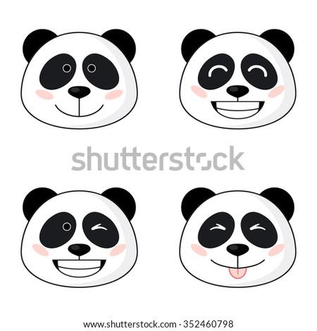 Pictures of cartoon panda faces