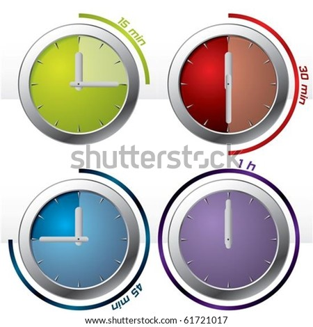 set of four timer icons