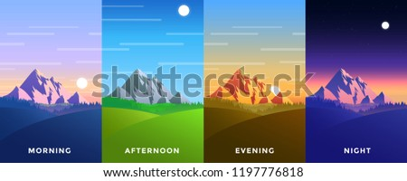 set of four vector background