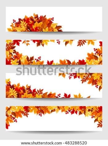 set of four vector banners with