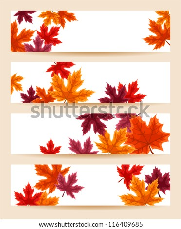 set of four vector banners