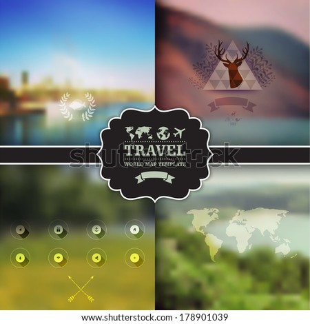 set of four vector landscape