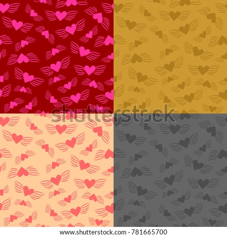 set of four vector seamless