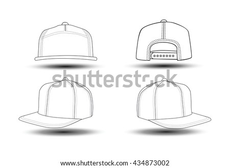 Set Of Four View Rap Cap That Can Be Used As Mockups Or Templates You